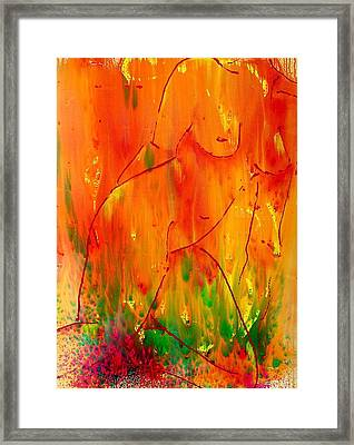 Burning Desire Framed Print by Nicole Lee