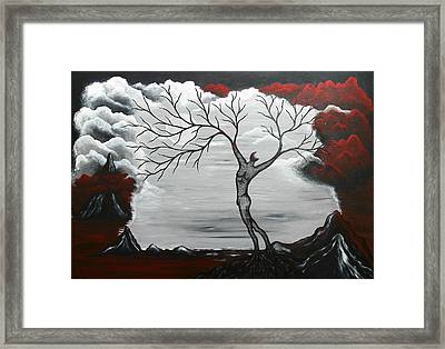 Burning Desire Framed Print by Sylvia Sotuyo
