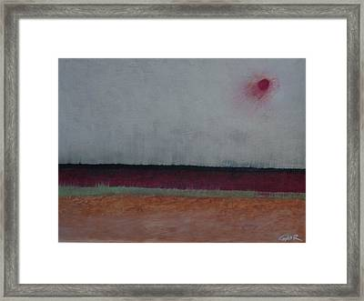 Burning Fields Framed Print by Conor Murphy