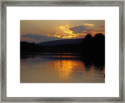 Framed Print featuring the photograph Burning Gold by Vilas Malankar