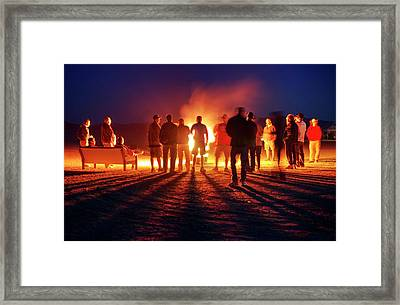 Framed Print featuring the photograph Burning Grains Of Rocket Fuel by Peter Thoeny