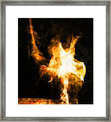 Framed Print featuring the photograph Burning Man by Ken Walker