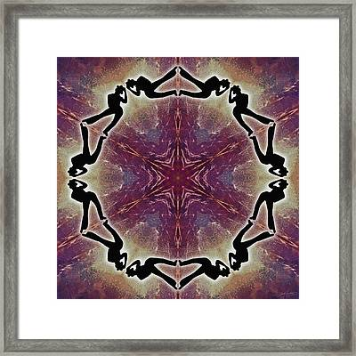 Framed Print featuring the digital art Burning Movement by Derek Gedney