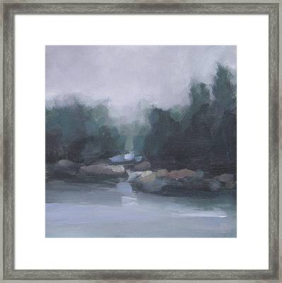 Burning Off Framed Print by Mary Brooking