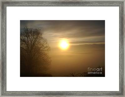 Burning Off The Fog Framed Print
