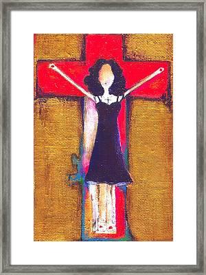 Burning Prayers Framed Print by Ricky Sencion