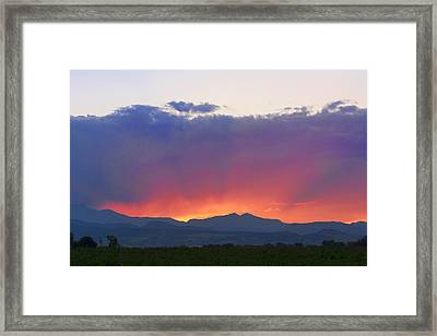 Burning Rays Of Sunset Framed Print by James BO  Insogna