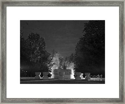 Burning Silence  Framed Print by Mioara Andritoiu