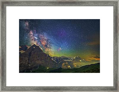 Burning Skies Framed Print
