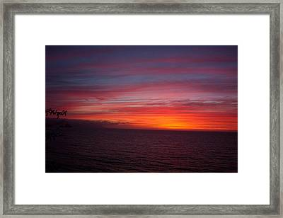 Burning Sky 2 Framed Print by James Johnstone