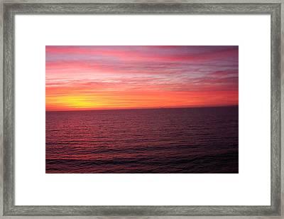 Burning Sky Framed Print by James Johnstone