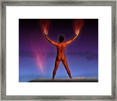 Burning Sorcerer Framed Print