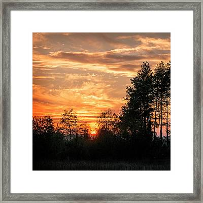 Burning Sunset. Horytsya, 2014. Framed Print