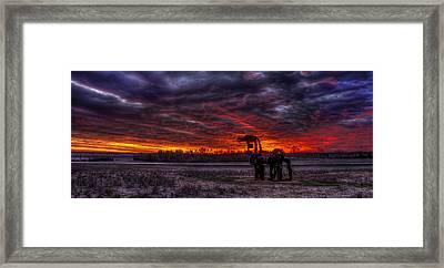 Burning Sunset The Iron Horse Framed Print