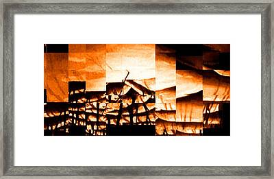 Burning Framed Print by Gyorgy Szilagyi