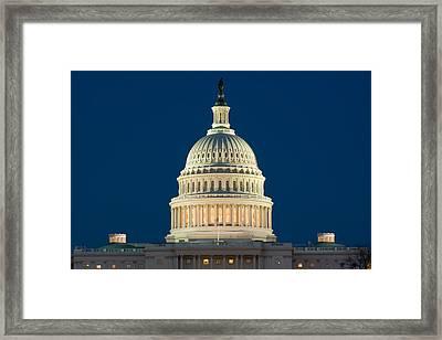 Burning The Midnight Oil Framed Print by Don Lovett