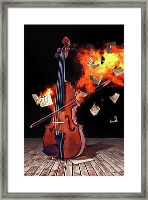 Burning With Music Framed Print