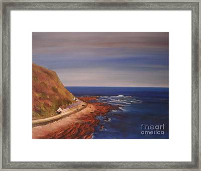 Framed Print featuring the painting Burnmouth Scotland by Beatrice Cloake
