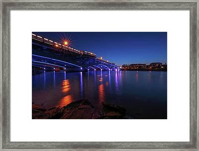 Burns Bridge Framed Print