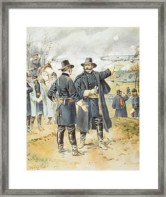 Burnside At Fredericksburg December 13 Framed Print by Vintage Design Pics