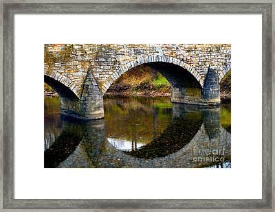 Burnside Bridge Arches  Framed Print