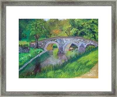 burnside bridge at Antietam Md.  Framed Print by Rebecca Jackson