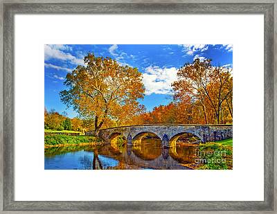 Burnside Bridge At Antietam Framed Print by Paul W Faust -  Impressions of Light