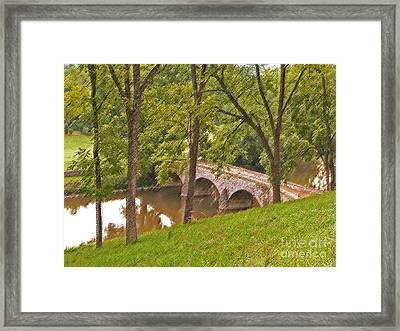 Burnside Bridge At Antietem Framed Print