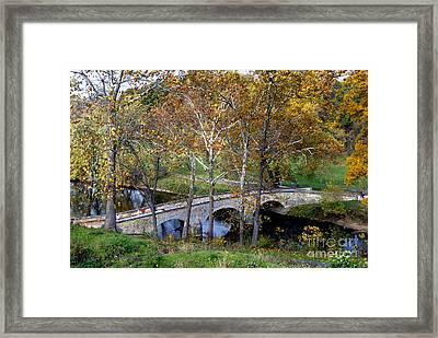 Burnside Bridge From Above Framed Print