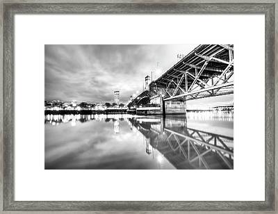 Burnside Bridge Willamette River Portland Oregon Framed Print