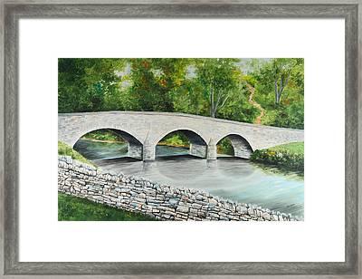 Burnside's Bridge Antietam National Battlefield Framed Print by Paul Cubeta