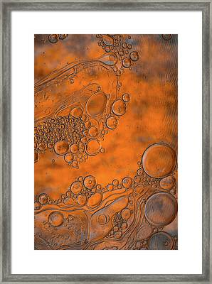 Burnt Bubble Fire Plate Framed Print by Bruce Pritchett
