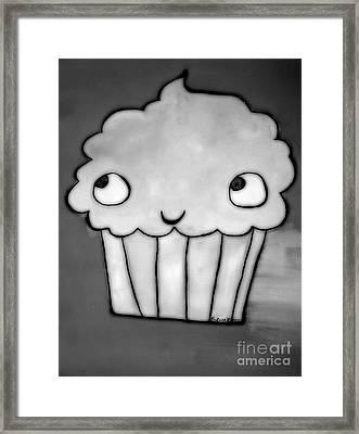 Burnt Cupcake Framed Print by Sacred  Muse