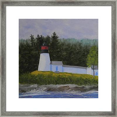 Burnt Island Light Framed Print
