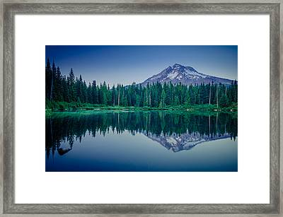 Burnt Lake Reflection Framed Print