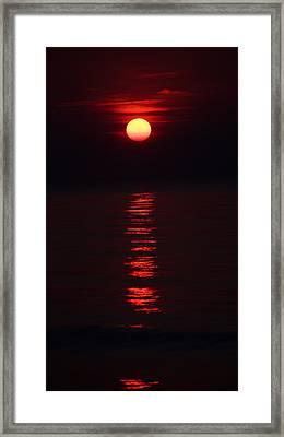 Burnt Orange Sunrise Framed Print