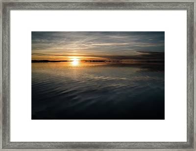 Burnt Reflection Framed Print by Justin Johnson