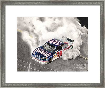 Burnt Rubber Framed Print