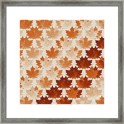 Framed Print featuring the digital art Burnt Sienna Autumn Leaves by Methune Hively