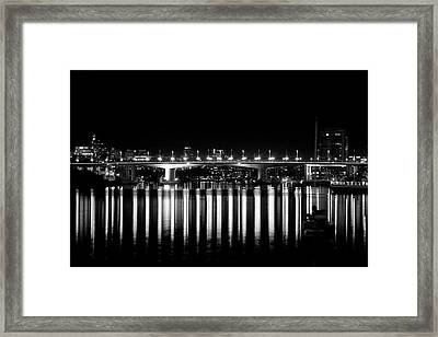 Burrard Street Bridge  Framed Print by Barbara  White