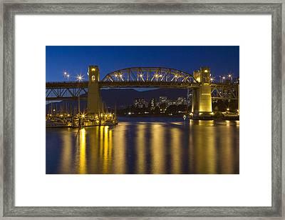 Burrard Street Bridge Vancouver Framed Print by Naman Imagery