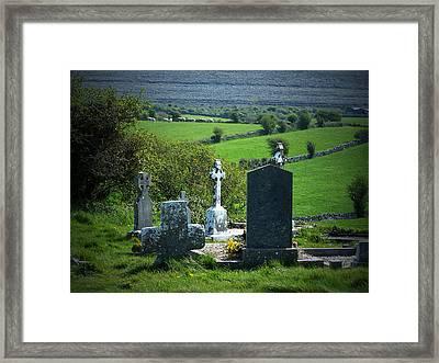 Burren Crosses County Clare Ireland Framed Print by Teresa Mucha