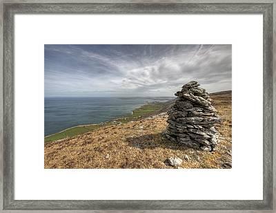 Burren Scenic View Framed Print by John Quinn