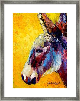 Burro Study II Framed Print by Marion Rose