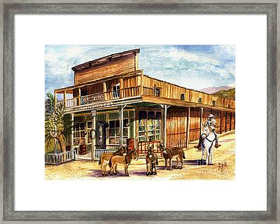 Burros Are Back In Town Framed Print by Marilyn Smith