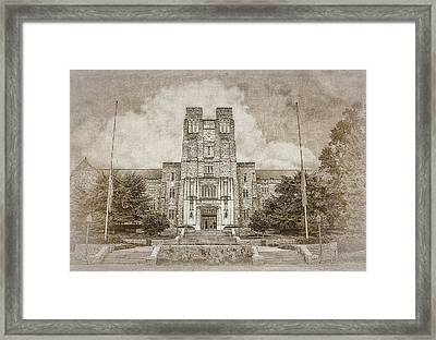 Burruss Hall Series II Framed Print by Kathy Jennings