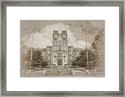 Burruss Hall Series II Framed Print by Kathy Jennings