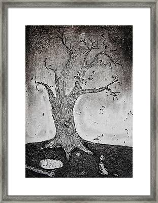Burst Balloon Framed Print