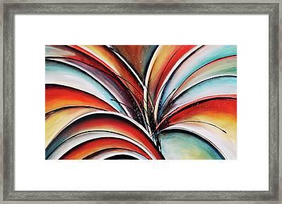 Burst Framed Print by Heather Day