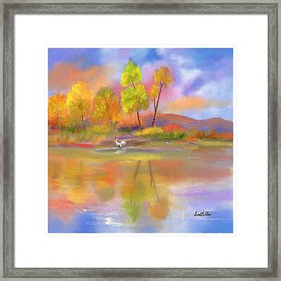 Framed Print featuring the painting Burst Of Autumn by Sena Wilson